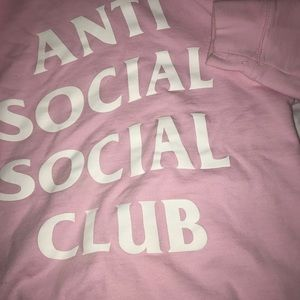 Anti Social Social Club Tops - Anti Social Social Club sold out hoodie pink